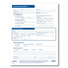 Employee Payroll Change Forms - Printable PDF