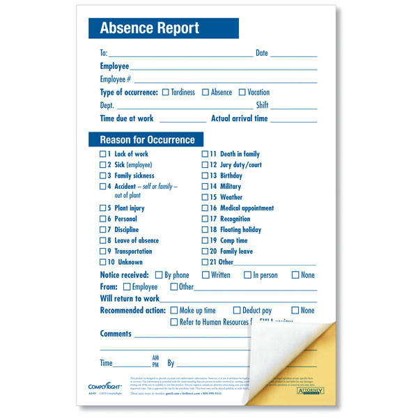 Search Results For 2015 Employee Attendance Tracking Form