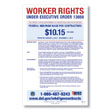 Federal Minimum Wage for Contractors Poster