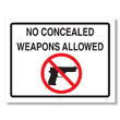 Concealed Weapons Law Poster