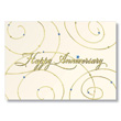 Golden Star Employee Anniversary Card