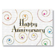 Swirls Employee Anniversary Cards