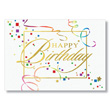 Birthday Streamers Business Birthday Cards