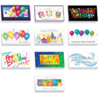 Festive Business Bithday Card Assortment