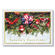 Patriotic Pine Bough Holiday Card