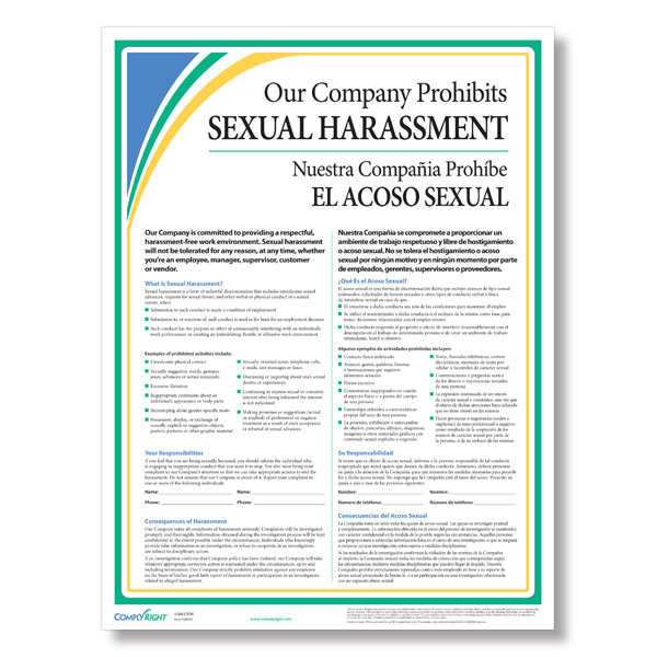 Anti Discrimination Policy Template Sexual Harassment Poster