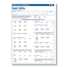 Employment Skills Test - Math