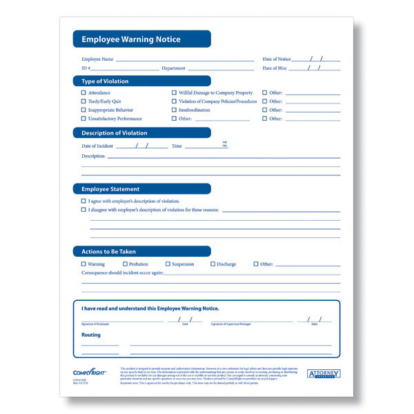 Employee Warning Form - Fill &amp; Save PDF